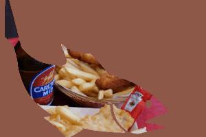 Australien Fremantle: Fish n Chips - Free-range Chicken als Alternative für die Kids