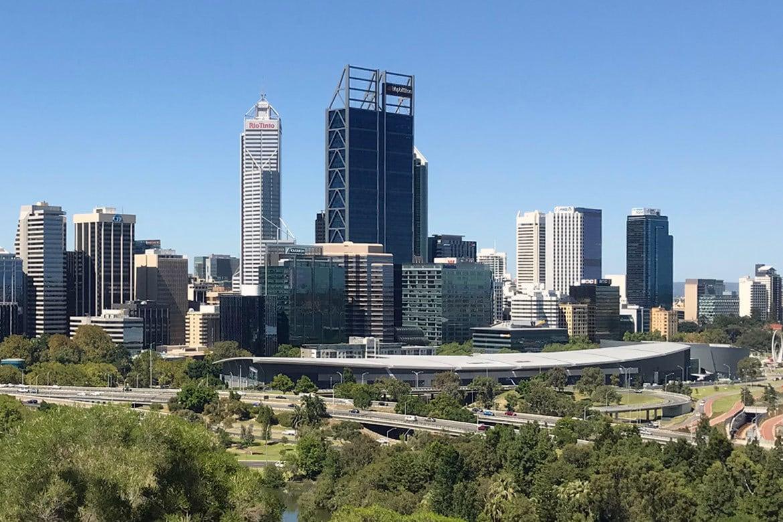 Australien Perth: Sicht auf Perth vom Kings Park aus