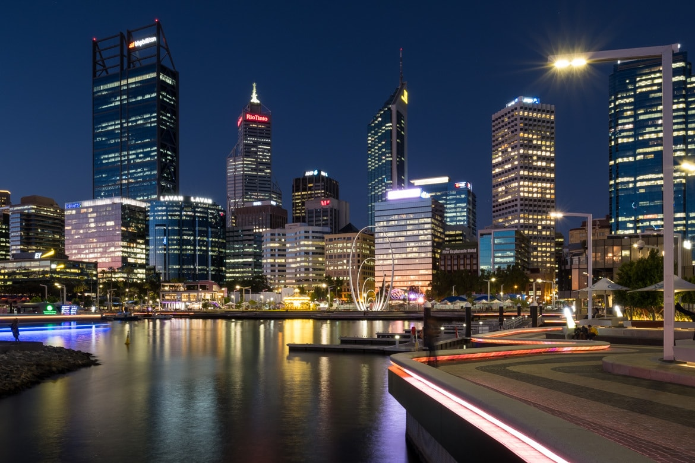 Australien Perth by Night