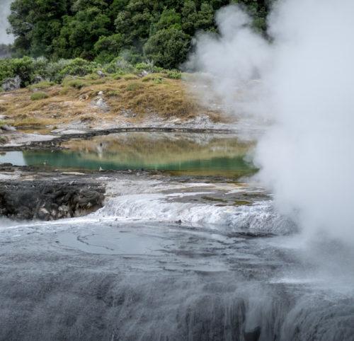 Heisse Quellen in Rotorua, eindrückliches Schauspiel