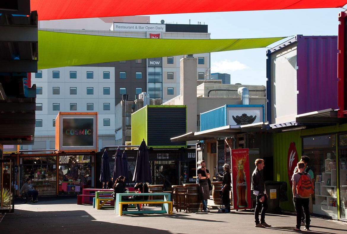 Container Gewerbe boomt in Christchurch